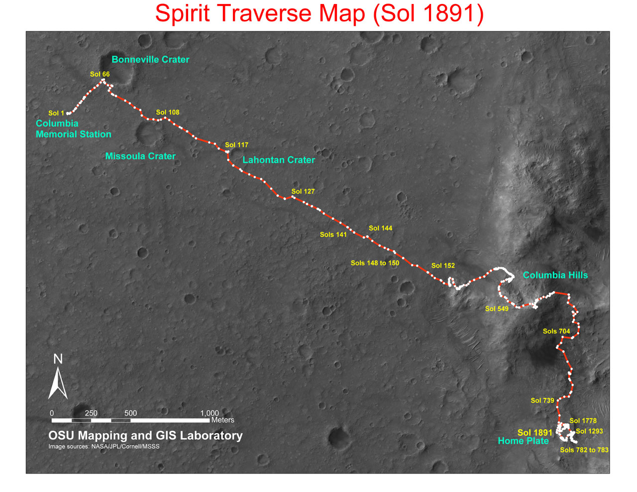 Maps of Mars From Rover (page 2) - Pics about space